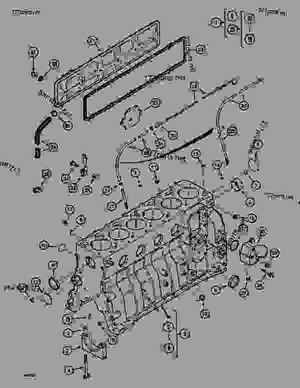Parts scheme CYLINDER BLOCK (7MM INJECTOR) - CRAWLER DOZERS Case 1088CS - CASE HYDRAULIC CRAWLER EXCAVATOR (S/N 18601 & AFTER) (7/88-12/94) 01 ENGINE CYLINDER BLOCK (7MM INJECTOR) | 777parts