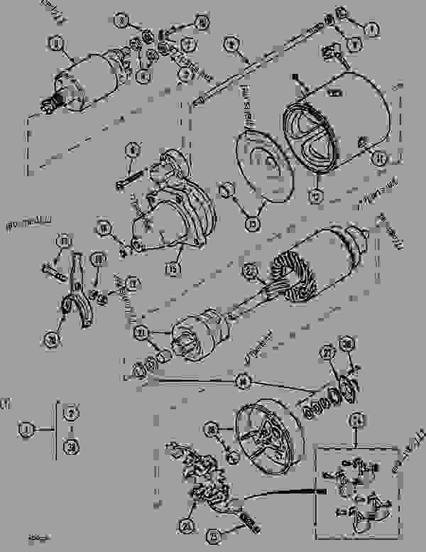 Parts scheme STARTER - CRAWLER DOZERS Case 1088CS - CASE HYDRAULIC CRAWLER EXCAVATOR (S/N 18601 & AFTER) (7/88-12/94) 06 ELECTRICAL SYSTEMS STARTER | 777parts