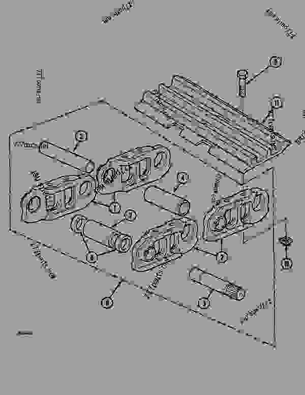 Parts scheme TRACK (49 LINKS) - CRAWLER DOZERS Case 1088CS - CASE HYDRAULIC CRAWLER EXCAVATOR (S/N 18601 & AFTER) (7/88-12/94) 04 UNDERCARRIAGE TRACK (49 LINKS) | 777parts