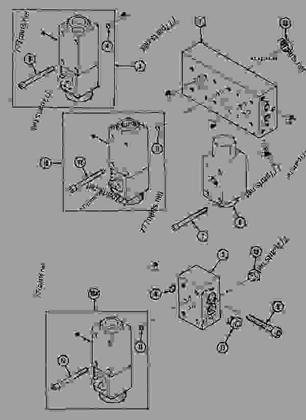 Parts scheme SELECTOR BLOCK - Two-speed - CRAWLER EXCAVATORS Case 1288LLC - CASE MAXI CRAWLER EXCAVATOR - ROMANIA (1/94-12/02) 18 MISCELLANEOUS SELECTOR BLOCK - Two-speed | 777parts