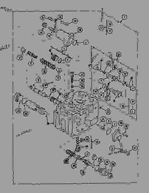 Parts scheme CONTROL VALVE - TRAVEL - CRAWLER DOZERS Case 1088MAXI - CASE HYDRAULIC CRAWLER EXCAVATOR (S/N 109101 & AFTER) (6/91-12/94) 07.1 UNDERCARRIAGE HYDRAULICS CONTROL VALVE - TRAVEL | 777parts