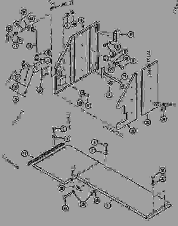Parts scheme CAT-WALK AND ACCESS DOOR - CRAWLER EXCAVATORS Case 1288LC - CASE CRAWLER EXCAVATOR (S/N CGG0022201 & AFTER) (9/91-12/02) 09 CHASSIS CAT-WALK AND ACCESS DOOR | 777parts