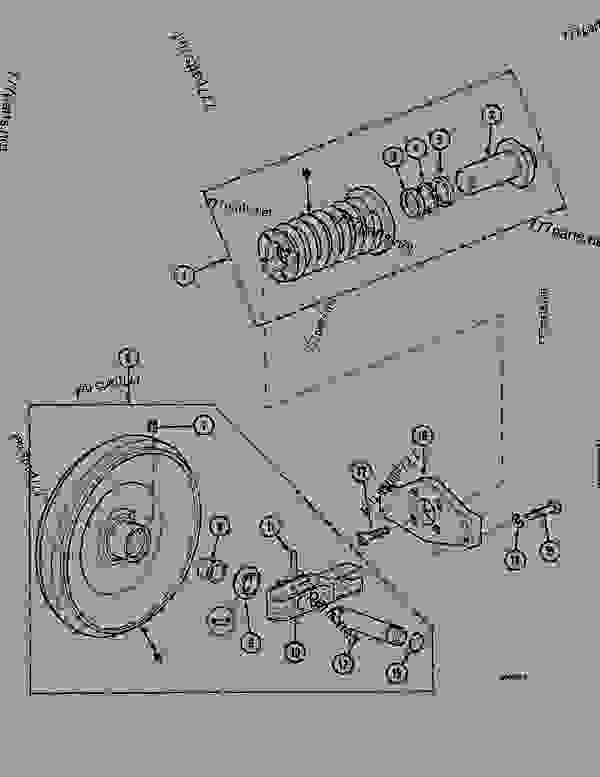 Parts scheme GUIDE PULLEY (ITRAC D4R) - CRAWLER DOZERS Case 1088MAXI - CASE HYDRAULIC CRAWLER EXCAVATOR (S/N 109101 & AFTER) (6/91-12/94) 04 UNDERCARRIAGE GUIDE PULLEY (ITRAC D4R) | 777parts