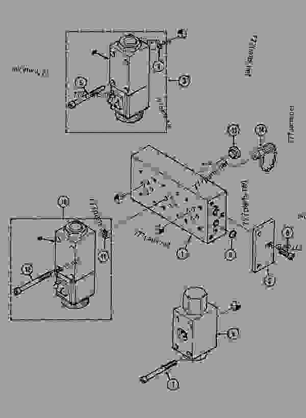Parts scheme SELECTOR BLOCK MONO-SPEED - CRAWLER EXCAVATORS Case 1288LC - CASE CRAWLER EXCAVATOR (S/N CGG0022201 & AFTER) (9/91-12/02) 08 HYDRAULICS SELECTOR BLOCK MONO-SPEED | 777parts