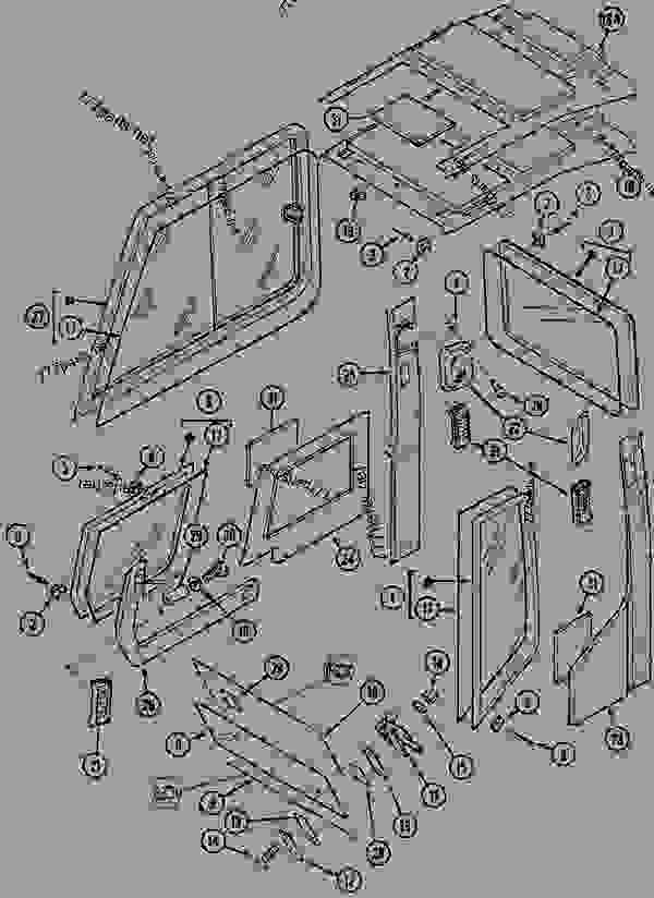 Parts scheme CAB TRIM AND GLASS - CRAWLER EXCAVATORS Case 1288CK - CASE CRAWLER EXCAVATOR (S/N CGG0023701 & AFTER) (9/91-12/01) 09 CHASSIS CAB TRIM AND GLASS | 777parts