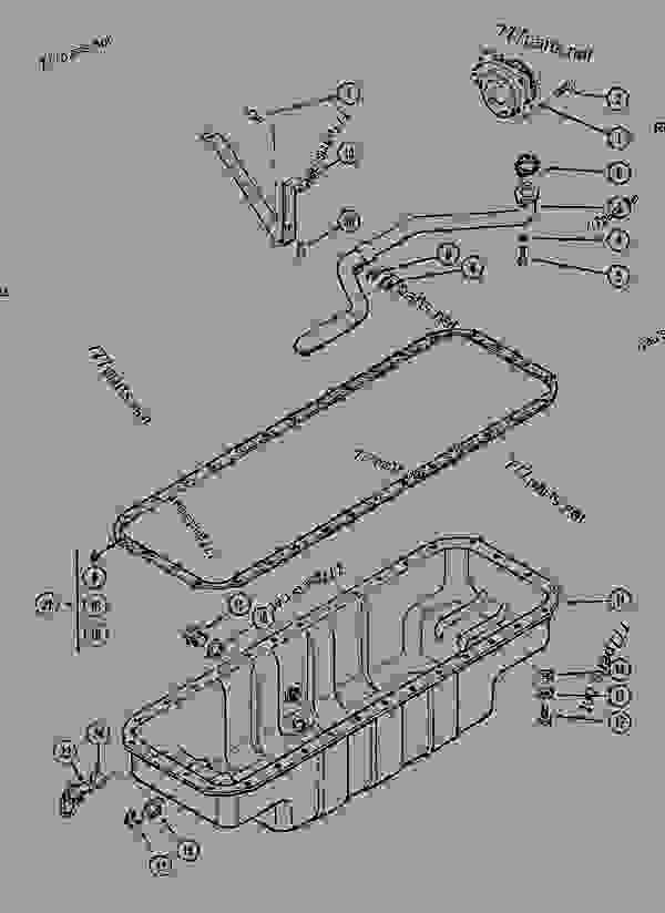 Parts scheme OIL PUMP AND OIL PAN - CRAWLER EXCAVATORS Case 1288LC - CASE CRAWLER EXCAVATOR (S/N CGG0022201 & AFTER) (9/91-12/02) 03 FUEL SYSTEM OIL PUMP AND OIL PAN | 777parts