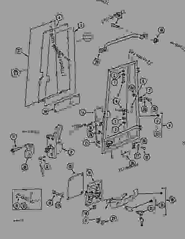 Parts scheme CAB DOOR - CRAWLER DOZERS Case 1088CL - CASE HYDRAULIC CRAWLER EXCAVATOR (S/N 17601 & AFTER) (7/88-12/94) 05.1 UPPERSTRUCTURE CHASSIS/ATTACHMENTS CAB DOOR | 777parts