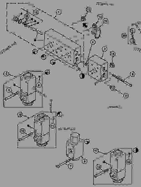 Parts scheme SELECTOR BLOCK, TWO-SPEED - CRAWLER EXCAVATORS Case 1288LC - CASE CRAWLER EXCAVATOR (S/N CGG0022201 & AFTER) (9/91-12/02) 08 HYDRAULICS SELECTOR BLOCK, TWO-SPEED | 777parts