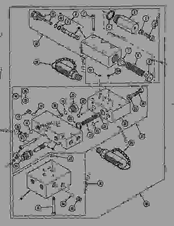 Parts scheme COUNTER ROTATION VALVE - CRAWLER DOZERS Case 1088CK - CASE HYDRAULIC CRAWLER EXCAVATOR (S/N 17001 & AFTER) (1/89-12/92) 07 HYDRAULIC SYSTEM COUNTER ROTATION VALVE | 777parts