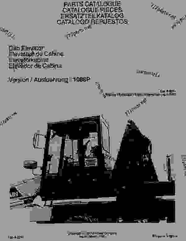 Parts scheme PARTS CATALOGUE - CRAWLER DOZERS Case 1088 - CASE WHEELED EXCAVATOR - CAB ELEVATOR (1/88-12/94) No Description PARTS CATALOGUE | 777parts