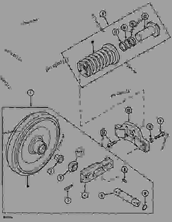 Parts scheme GUIDE PULLEY (ITRAC B5) - CRAWLER DOZERS Case 1088CK - CASE HYDRAULIC CRAWLER EXCAVATOR (S/N 17001 & AFTER) (1/89-12/92) 04 UNDERCARRIAGE GUIDE PULLEY (ITRAC B5) | 777parts