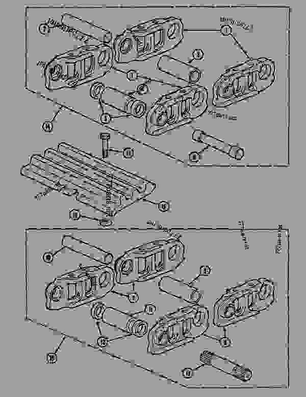 Parts scheme TRACK (54 LINKS) - CRAWLER DOZERS Case 1088CS - CASE HYDRAULIC CRAWLER EXCAVATOR (S/N 18601 & AFTER) (7/88-12/94) 04 UNDERCARRIAGE TRACK (54 LINKS) | 777parts