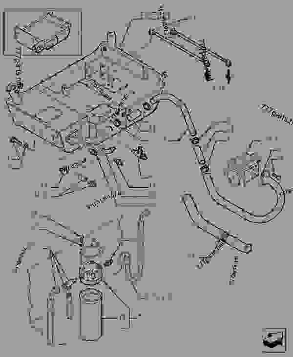 Parts scheme FUEL AND OIL TANK - TELESCOPIC HANDLERS Case TX842 - TELEHANDLER (5/06-12/15) 35 HYDRAULIC SYSTEMS FUEL AND OIL TANK | 777parts