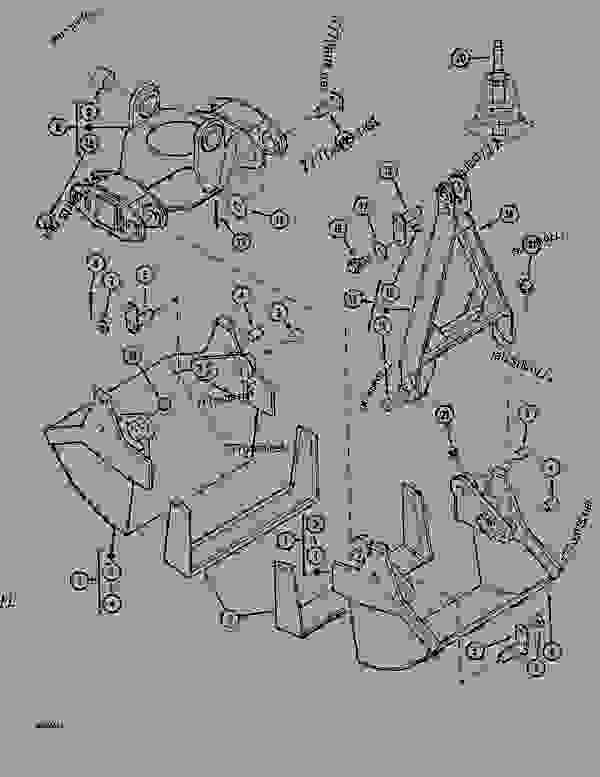 Parts scheme HANDLING CLAMSHELL (1000L) - CRAWLER DOZERS Case 1088 - CASE EXCAVATOR ATTACHMENTS (1/88-12/94) 17 CLAMSHELLS HANDLING CLAMSHELL (1000L) | 777parts