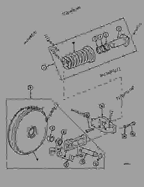 Parts scheme GUIDE PULLEY (ITRAC B4) - CRAWLER DOZERS Case 1088CS - CASE HYDRAULIC CRAWLER EXCAVATOR (S/N 18601 & AFTER) (7/88-12/94) 04 UNDERCARRIAGE GUIDE PULLEY (ITRAC B4) | 777parts