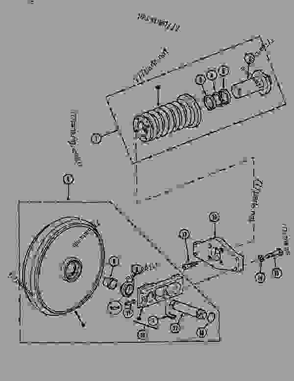 Parts scheme GUIDE PULLEY (ITRAC B5P) - CRAWLER DOZERS Case 1088CS - CASE HYDRAULIC CRAWLER EXCAVATOR (S/N 18601 & AFTER) (7/88-12/94) 04 UNDERCARRIAGE GUIDE PULLEY (ITRAC B5P) | 777parts