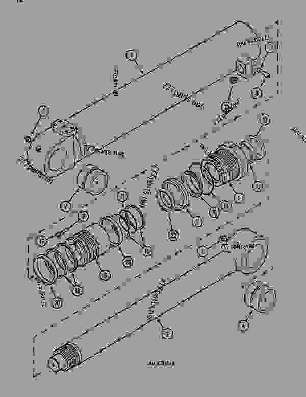 Parts scheme OFFSET CYLINDER (OFFSET BACKHOE BOOM) - CRAWLER DOZERS Case 1088 - CASE EXCAVATOR - OFFSET BACKHOE BOOM (1/88-12/94) No Description OFFSET CYLINDER (OFFSET BACKHOE BOOM) | 777parts