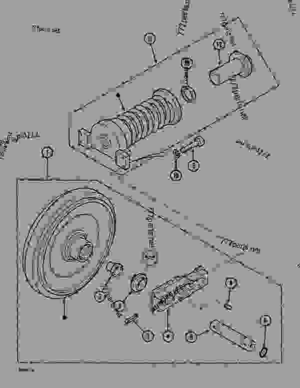 Parts scheme GUIDE PULLEY (ITRAC D6R) - CRAWLER DOZERS Case 1088CS - CASE HYDRAULIC CRAWLER EXCAVATOR (S/N 18601 & AFTER) (7/88-12/94) 04 UNDERCARRIAGE GUIDE PULLEY (ITRAC D6R) | 777parts