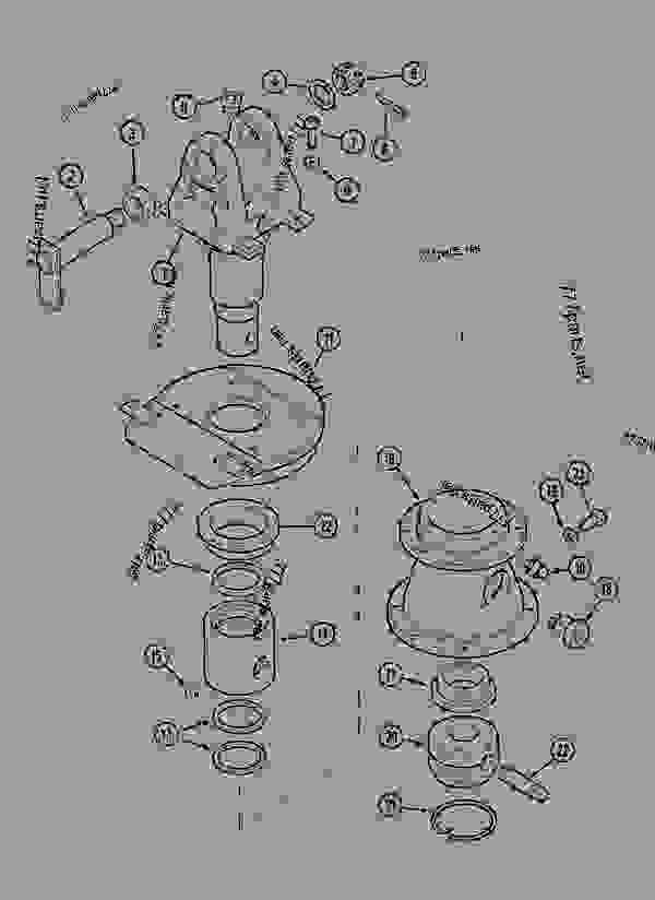 Parts scheme TURNING JOINT - CRAWLER EXCAVATORS Case 1288LC - CASE CRAWLER EXCAVATOR (S/N CGG0022201 & AFTER) (9/91-12/02) 08 HYDRAULICS TURNING JOINT | 777parts