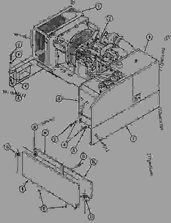 Parts scheme ENGINE MODULE - CRAWLER EXCAVATORS Case 1288LC - CASE CRAWLER EXCAVATOR (S/N CGG0022201 & AFTER) (9/91-12/02) 09 CHASSIS ENGINE MODULE | 777parts