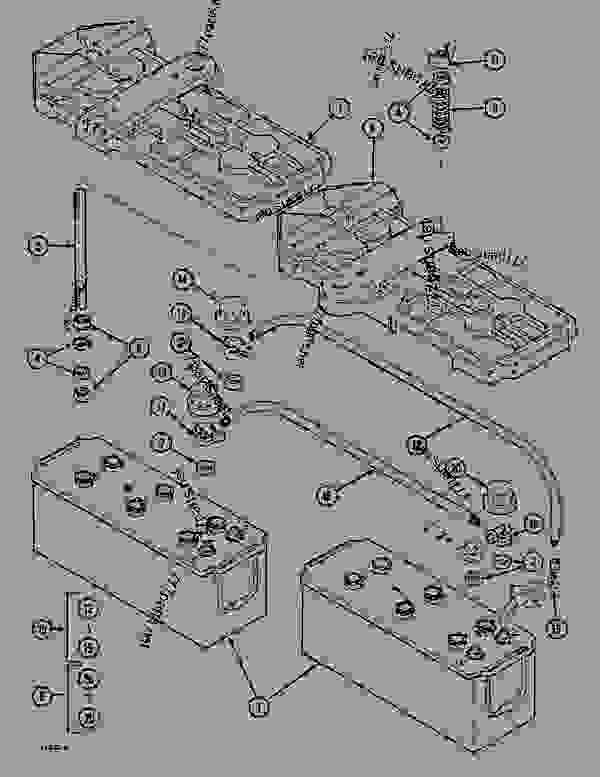 Parts scheme BATTERIES - CRAWLER DOZERS Case 1088CK - CASE HYDRAULIC CRAWLER EXCAVATOR (S/N 17001 & AFTER) (1/89-12/92) 06 ELECTRICAL SYSTEMS BATTERIES | 777parts