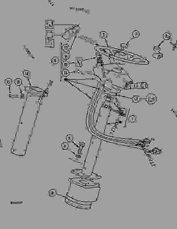 Parts scheme STEERING WHEEL AND STEERING COLUMN, 1088 P(8701-) / 1088 P4A (9701-) - CRAWLER DOZERS Case 1088P - CASE WHEELED EXCAVATOR (S/N 8701 & AFTER) (9/90-12/94) 05.1 UPPERSTRUCTURE CHASSIS/ATTACHMENTS STEERING WHEEL AND STEERING COLUMN, 1088 P(8701-) / 1088 P4A (9701-) | 777parts