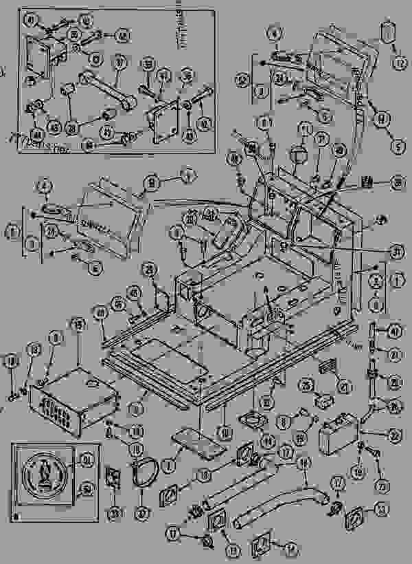 Parts scheme OPERATORS COMPARTMENT - CRAWLER EXCAVATORS Case 1288LC - CASE CRAWLER EXCAVATOR (S/N CGG0022201 & AFTER) (9/91-12/02) 09 CHASSIS OPERATORS COMPARTMENT | 777parts