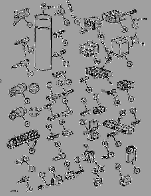 Parts scheme ELEC. ACCESSORIES - CRAWLER DOZERS Case 1088CK - CASE HYDRAULIC CRAWLER EXCAVATOR (S/N 17001 & AFTER) (1/89-12/92) 06 ELECTRICAL SYSTEMS ELEC. ACCESSORIES | 777parts