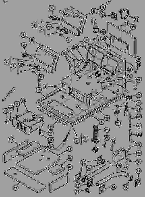 Parts scheme OPERATORS COMPARTMENT - CRAWLER EXCAVATORS Case 1288CK - CASE CRAWLER EXCAVATOR (S/N CGG0023701 & AFTER) (9/91-12/01) 09 CHASSIS OPERATORS COMPARTMENT | 777parts