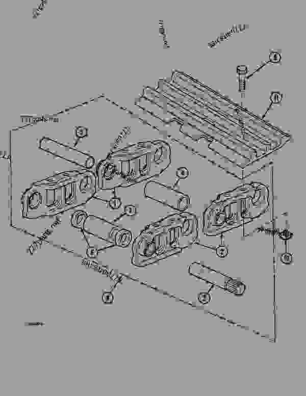 Parts scheme TRACK, - CRAWLER DOZERS Case 1088CK - CASE HYDRAULIC CRAWLER EXCAVATOR (S/N 17001 & AFTER) (1/89-12/92) 04 UNDERCARRIAGE TRACK, | 777parts