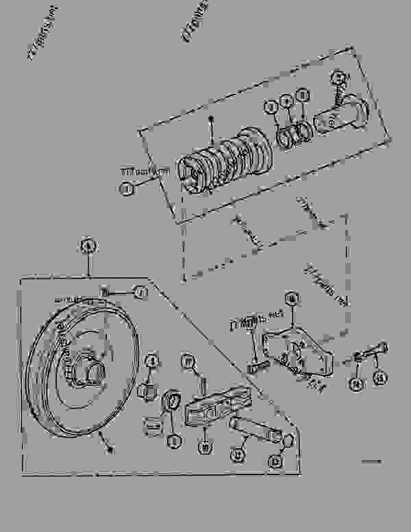 Parts scheme GUIDE PULLEY (ITRAC B4) - CRAWLER DOZERS Case 1088CK - CASE HYDRAULIC CRAWLER EXCAVATOR (S/N 17001 & AFTER) (1/89-12/92) 04 UNDERCARRIAGE GUIDE PULLEY (ITRAC B4) | 777parts