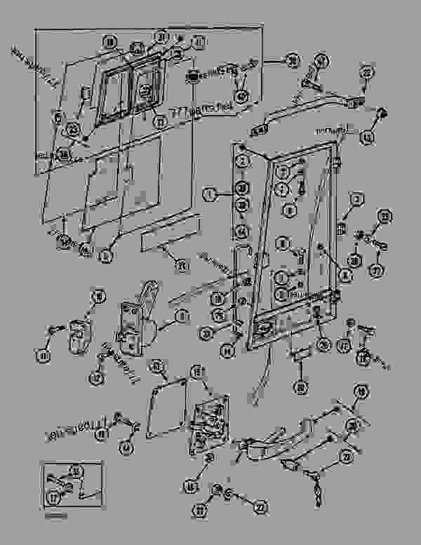 Parts scheme CAB DOOR - SCANDINAVIAN AND GERMANY - CRAWLER DOZERS Case 1088CS - CASE HYDRAULIC CRAWLER EXCAVATOR (S/N 18601 & AFTER) (7/88-12/94) 05.1 UPPERSTRUCTURE CHASSIS/ATTACHMENTS CAB DOOR - SCANDINAVIAN AND GERMANY | 777parts
