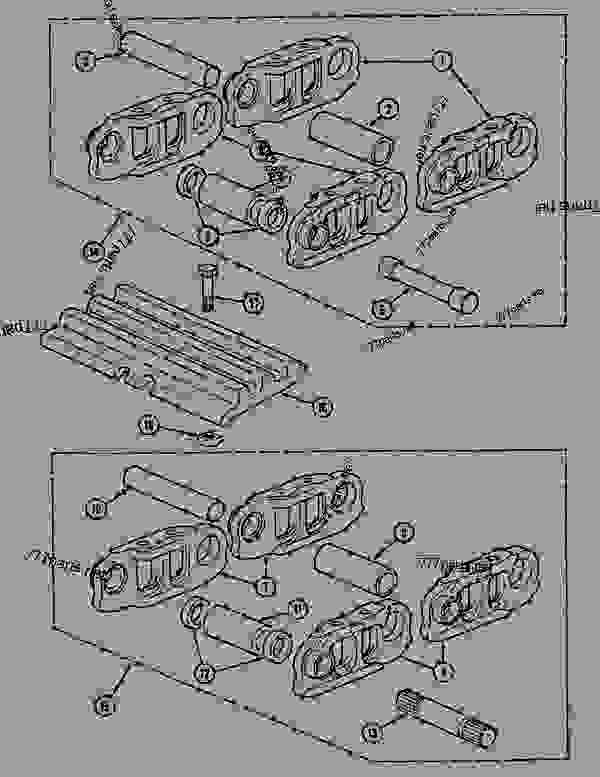 Parts scheme TRACK (50 LINKS) - CRAWLER DOZERS Case 1088CK - CASE HYDRAULIC CRAWLER EXCAVATOR (S/N 17001 & AFTER) (1/89-12/92) 04 UNDERCARRIAGE TRACK (50 LINKS) | 777parts