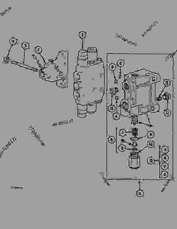 Parts scheme CONTROL VALVE - 1 STAGE OPTION - CRAWLER DOZERS Case 1088CK - CASE HYDRAULIC CRAWLER EXCAVATOR (S/N 17001 & AFTER) (1/89-12/92) 07 HYDRAULIC SYSTEM CONTROL VALVE - 1 STAGE OPTION | 777parts