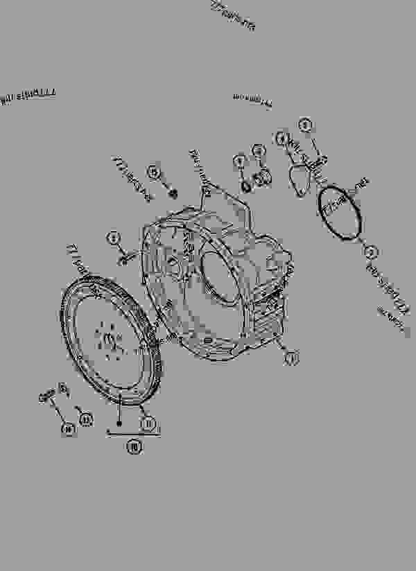 Parts scheme FLYWHEEL AND HOUSING ENGINE - CRAWLER EXCAVATORS Case 1288NLC - CASE CRAWLER EXCAVATOR (S/N CGG0117101 & AFTER) (3/93-12/02) 03 FUEL SYSTEM FLYWHEEL AND HOUSING ENGINE | 777parts