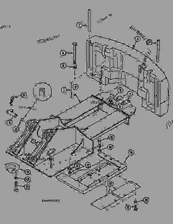 Parts scheme UPPERSTRUCTURE CHASSIS - CRAWLER DOZERS Case 1088 - CASE EXCAVATOR - LONG DITCH CLEANING ATTACHMENT (1/88-12/94) No Description UPPERSTRUCTURE CHASSIS | 777parts