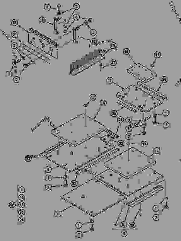Parts scheme UPPERSTRUCTURE LOWER PANELS (CGG022776-) - CRAWLER EXCAVATORS Case 1288FG - CASE EXCAVATOR - LONG-DISTANCE HANDLING (1/94-12/02) 18 MISCELLANEOUS UPPERSTRUCTURE LOWER PANELS (CGG022776-) | 777parts