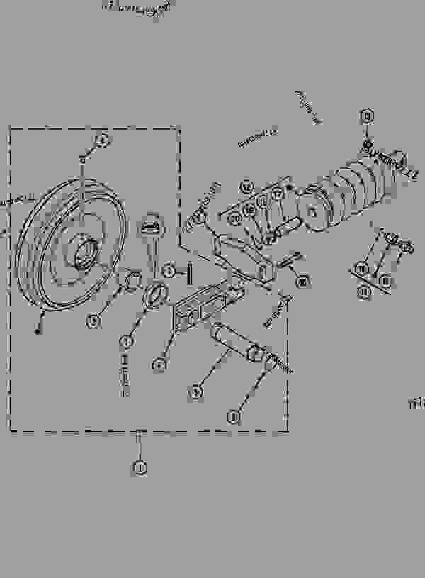 Parts scheme GUIDE PULLEY - CRAWLER EXCAVATORS Case 1288CK - CASE CRAWLER EXCAVATOR (S/N CGG0023701 & AFTER) (9/91-12/01) 11 TRACKS/STEERING GUIDE PULLEY | 777parts