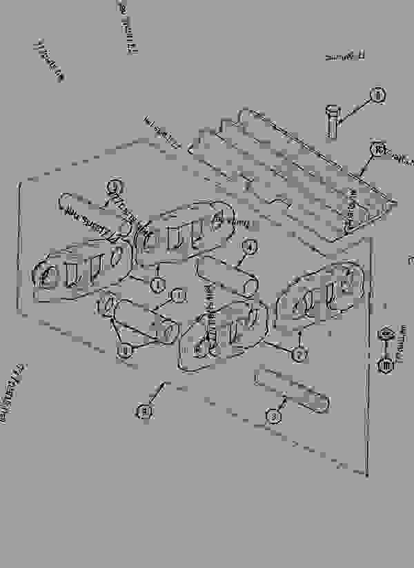 Parts scheme TRACK - CRAWLER EXCAVATORS Case 1288CK - CASE CRAWLER EXCAVATOR (S/N CGG0023701 & AFTER) (9/91-12/01) 11 TRACKS/STEERING TRACK | 777parts