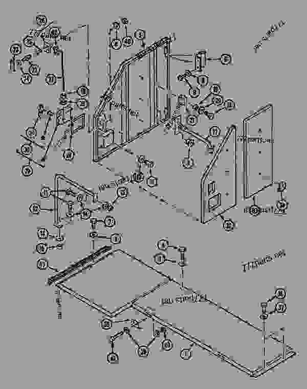 Parts scheme CAT-WALK AND ACCESS DOOR - CRAWLER EXCAVATORS Case 1288CK - CASE CRAWLER EXCAVATOR (S/N CGG0023701 & AFTER) (9/91-12/01) 09 CHASSIS CAT-WALK AND ACCESS DOOR | 777parts
