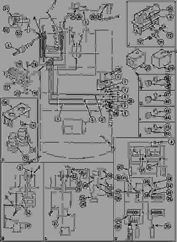 Parts scheme ELECTRICAL CIRCUIT - CRAWLER EXCAVATORS Case 1288FGS - CASE EXCAVATOR - LONG-DISTANCE HANDLING (1/94-12/02) 18 MISCELLANEOUS ELECTRICAL CIRCUIT | 777parts