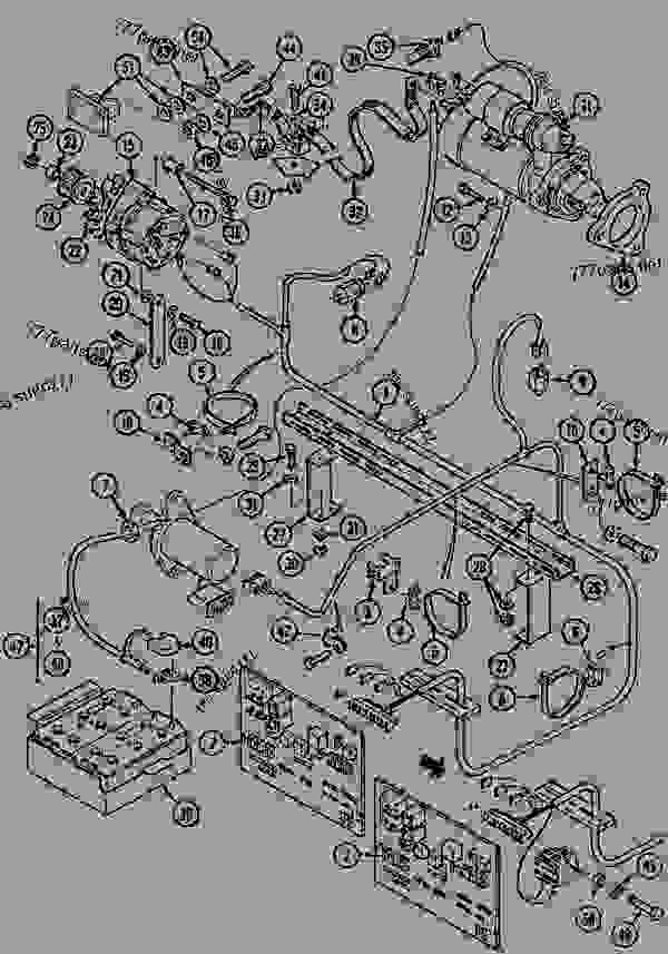 Parts scheme ELECTRICAL CIRCUIT ENGINE - CRAWLER EXCAVATORS Case 1288LC - CASE CRAWLER EXCAVATOR (S/N CGG0022201 & AFTER) (9/91-12/02) 05 STEERING ELECTRICAL CIRCUIT ENGINE | 777parts