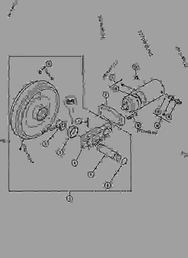 Parts scheme GUIDE PULLEY - CRAWLER EXCAVATORS Case 1288LC - CASE CRAWLER EXCAVATOR (S/N CGG0022201 & AFTER) (9/91-12/02) 11 TRACKS/STEERING GUIDE PULLEY | 777parts