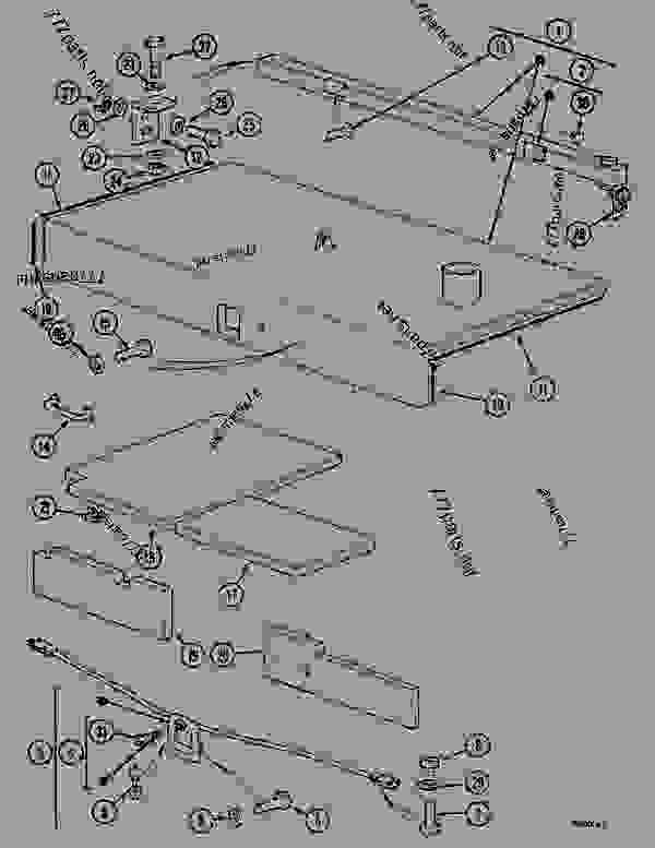 Parts scheme ENG. COVER - CRAWLER DOZERS Case 1088CK - CASE HYDRAULIC CRAWLER EXCAVATOR (S/N 17001 & AFTER) (1/89-12/92) 05.1 UPPERSTRUCTURE CHASSIS/ATTACHMENTS ENG. COVER | 777parts