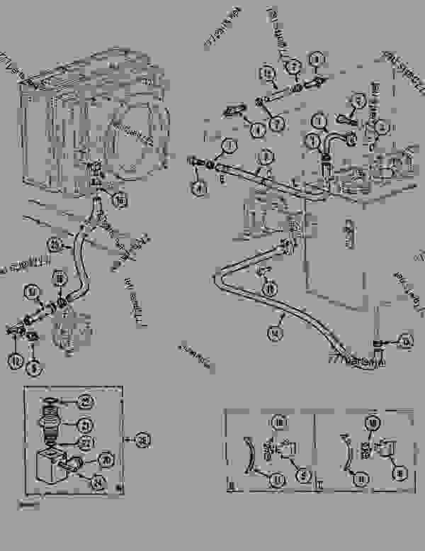 Parts scheme CIRCUIT - ENGINE MODULE - CRAWLER DOZERS Case 1088CL - CASE HYDRAULIC CRAWLER EXCAVATOR (S/N 17601 & AFTER) (7/88-12/94) 07 HYDRAULIC SYSTEM CIRCUIT - ENGINE MODULE | 777parts