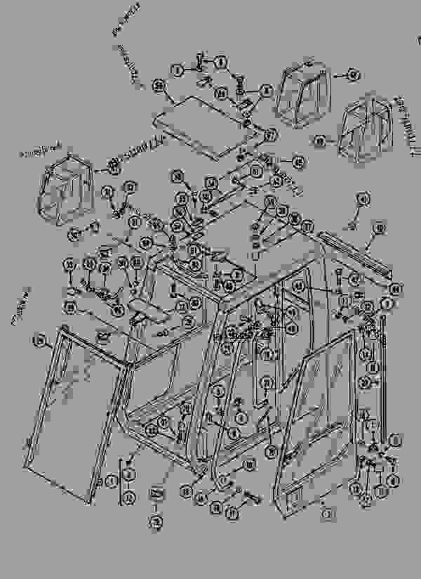 Parts scheme CAB OPENING ROOF, SHEET METAL - CRAWLER EXCAVATORS Case 1288LC - CASE CRAWLER EXCAVATOR (S/N CGG0022201 & AFTER) (9/91-12/02) 09 CHASSIS CAB OPENING ROOF, SHEET METAL | 777parts