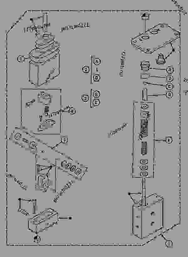 Parts scheme FOOT CONTROL VALVE - CRAWLER EXCAVATORS Case 1288NLC - CASE CRAWLER EXCAVATOR (S/N CGG0117101 & AFTER) (3/93-12/02) 08 HYDRAULICS FOOT CONTROL VALVE | 777parts
