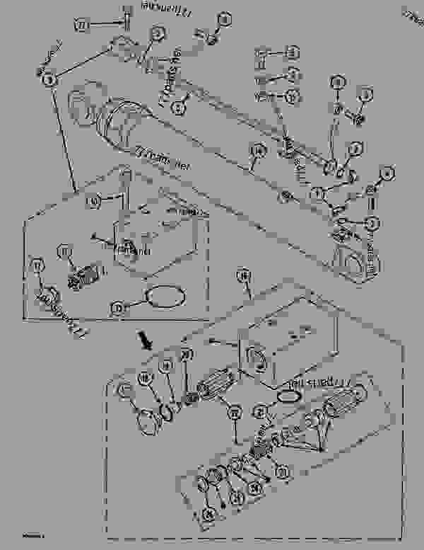 Parts scheme DIPPERSTICK CYLINDER CIRCUIT - CRAWLER DOZERS Case 1088 - CASE EXCAVATOR ATTACHMENTS (1/88-12/94) 07.1 HYDRAULIC ATTACHMENT COMPONENTS DIPPERSTICK CYLINDER CIRCUIT | 777parts