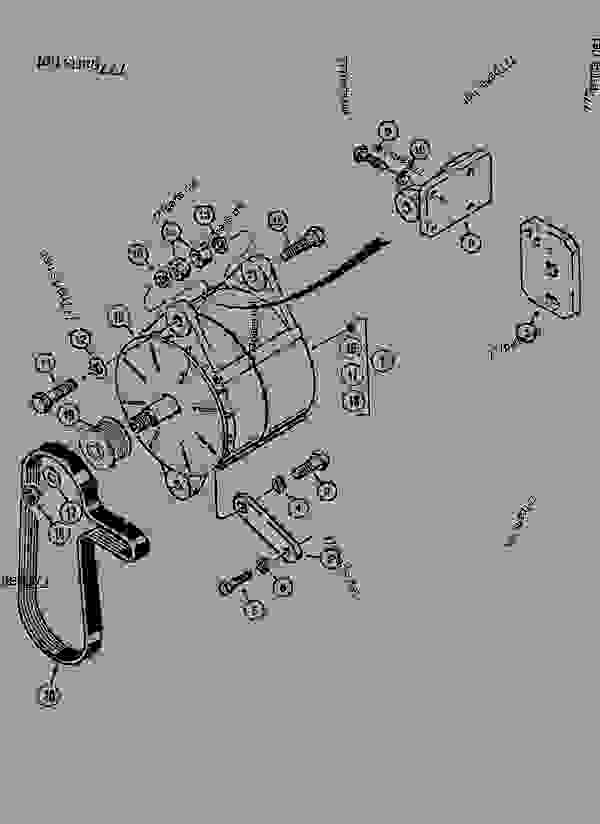 Parts scheme ALTERNATOR AND MOUNTING - CRAWLER EXCAVATORS Case 1288LLC - CASE MAXI CRAWLER EXCAVATOR - ROMANIA (1/94-12/02) 18 MISCELLANEOUS ALTERNATOR AND MOUNTING | 777parts