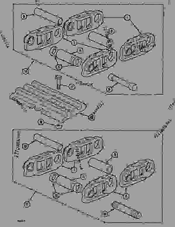 Parts scheme TRACK (49 LINKS), - CRAWLER DOZERS Case 1088CL - CASE HYDRAULIC CRAWLER EXCAVATOR (S/N 17601 & AFTER) (7/88-12/94) 04 UNDERCARRIAGE TRACK (49 LINKS), | 777parts